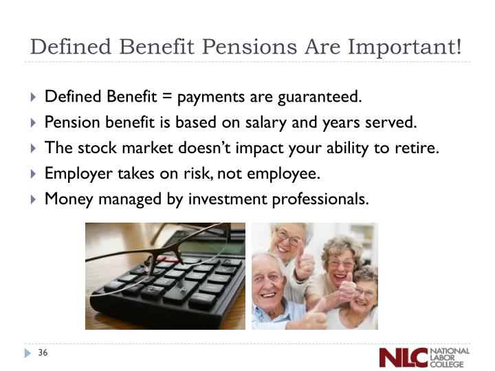 Defined Benefit Pensions Are Important!