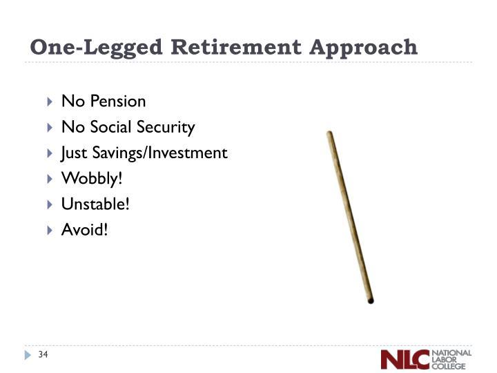One-Legged Retirement Approach