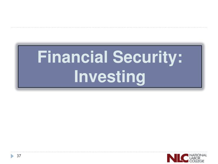 Financial Security:
