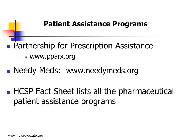 Patient Assistance Programs