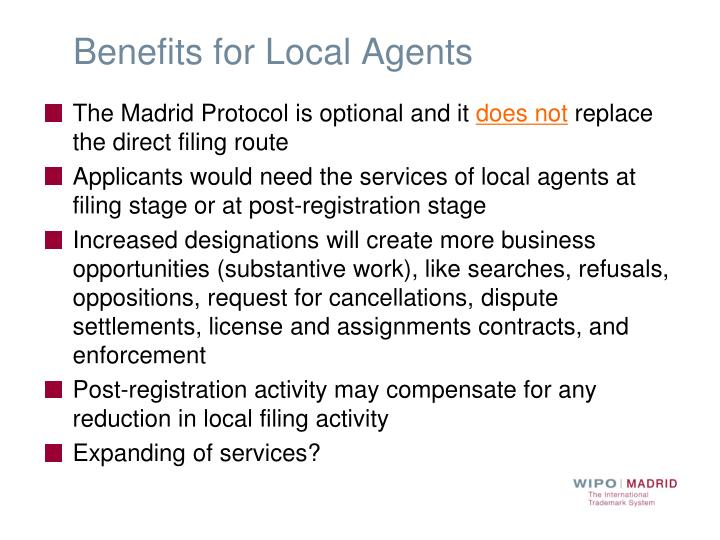 Benefits for Local Agents