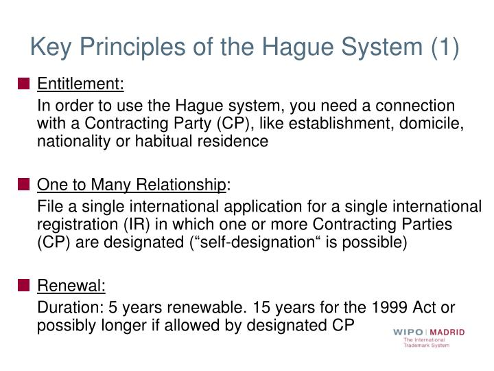 Key Principles of the Hague System (1)