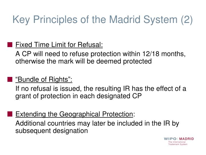 Key Principles of the Madrid System (2)