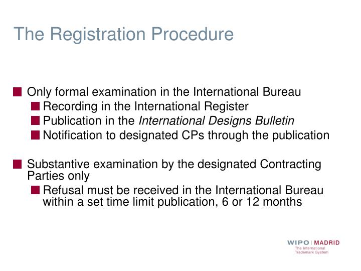 The Registration Procedure
