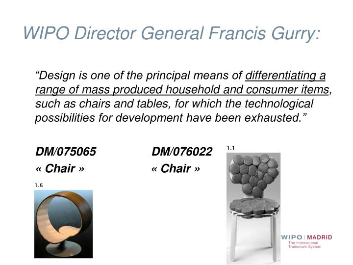 WIPO Director General Francis Gurry: