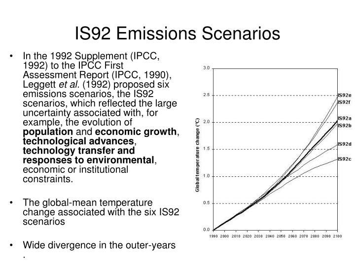 IS92 Emissions Scenarios