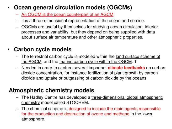 Ocean general circulation models (OGCMs)
