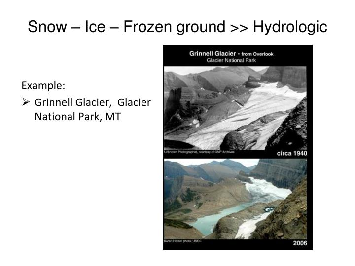 Snow – Ice – Frozen ground >> Hydrologic