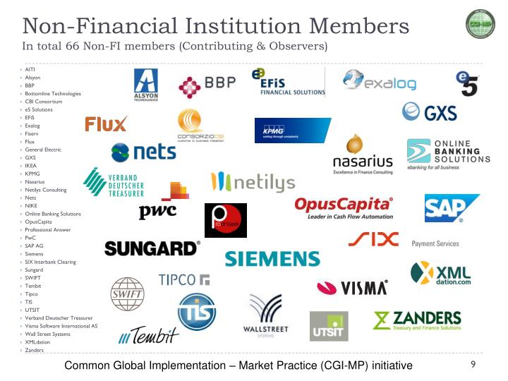 Non-Financial Institution Members