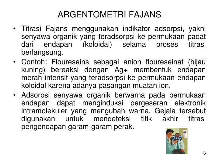 ARGENTOMETRI FAJANS