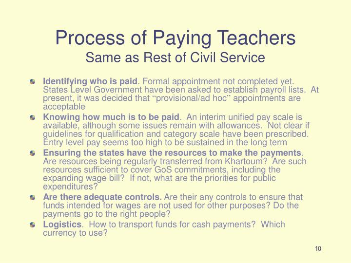 Process of Paying Teachers