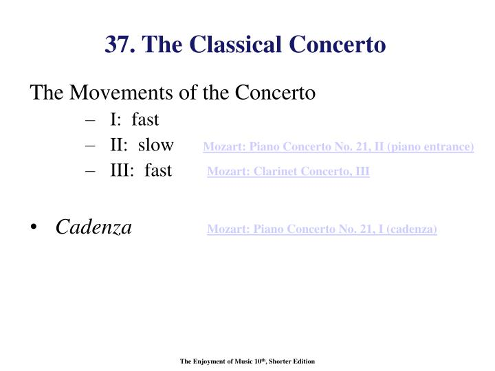 37. The Classical Concerto