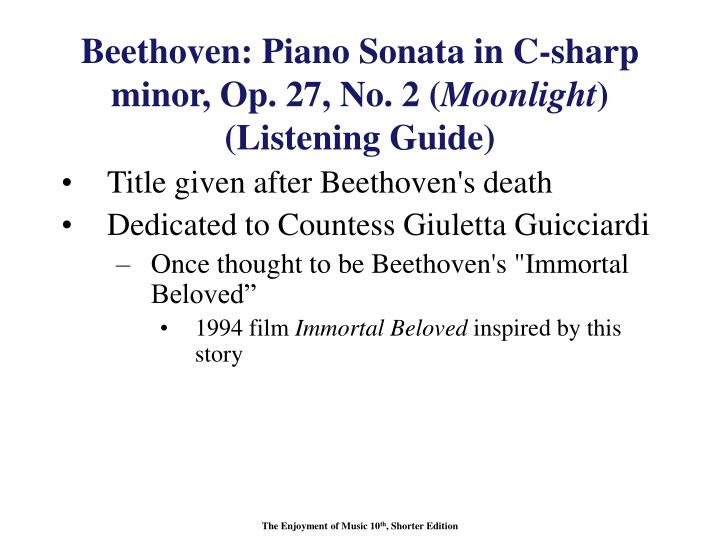 Beethoven: Piano Sonata in C-sharp minor, Op. 27, No. 2 (