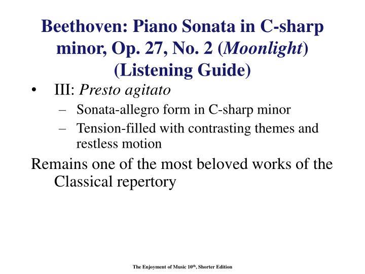 Beethoven: Piano Sonata in C-sharp minor, Op. 27, No. 2 (