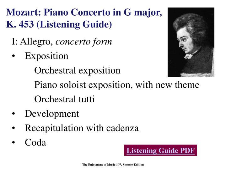 Mozart: Piano Concerto in G major,