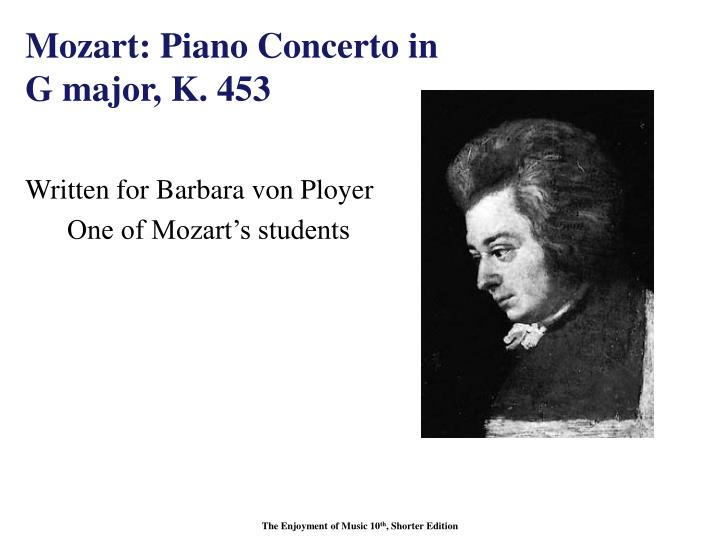 Mozart: Piano Concerto in G major, K. 453