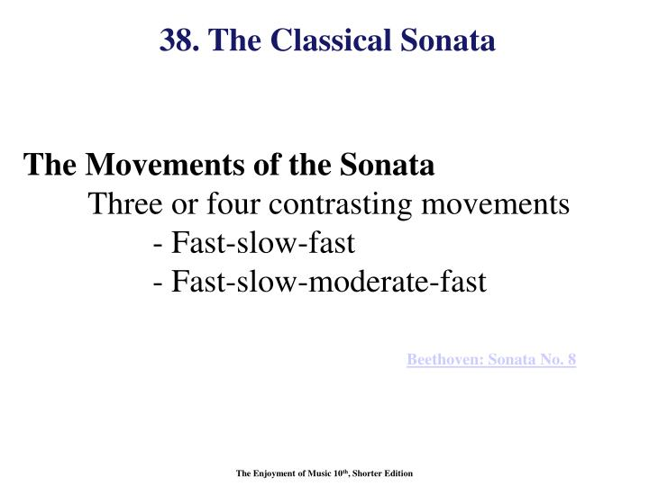 38. The Classical Sonata