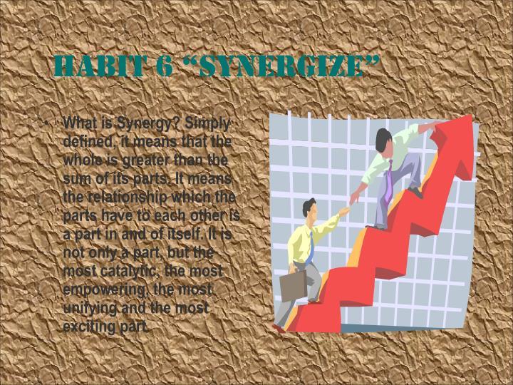 """Habit 6 """"Synergize"""""""