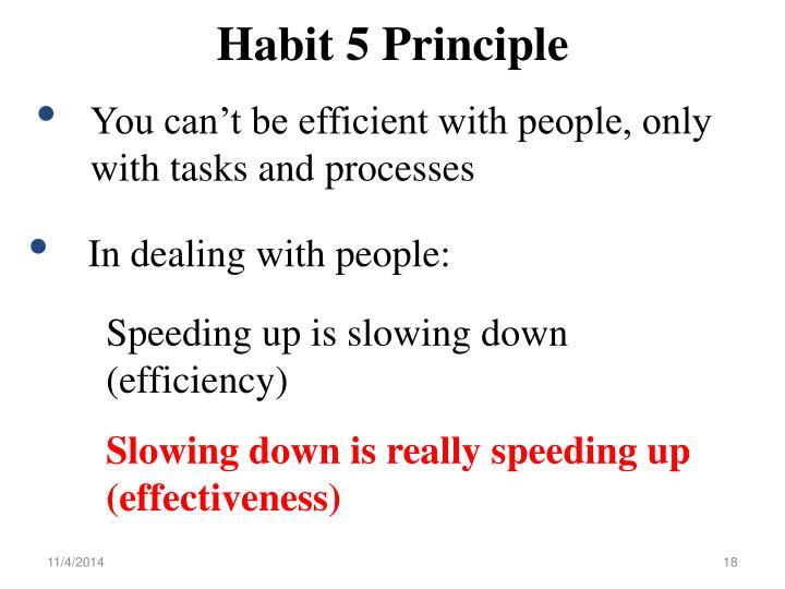 Habit 5 Principle