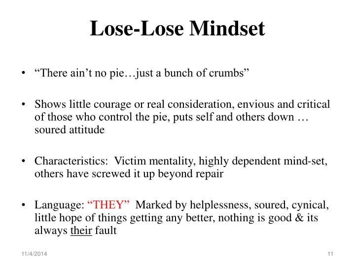 Lose-Lose Mindset