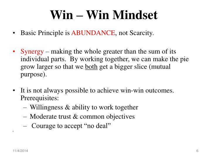 Win – Win Mindset