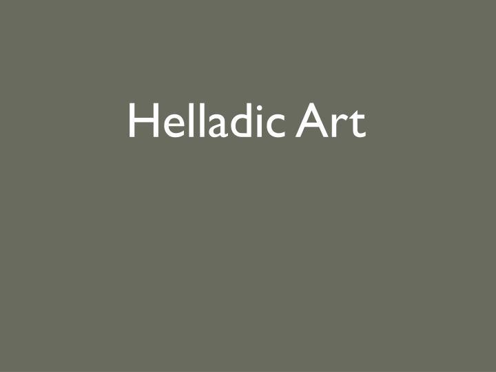 Helladic Art
