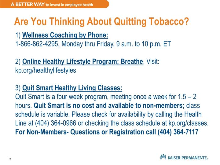 Are You Thinking About Quitting Tobacco?