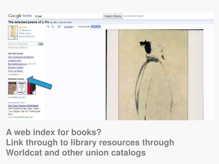 A web index for books?