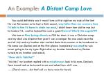 an example a distant camp love1