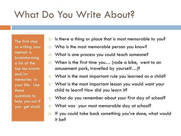 What Do You Write About?