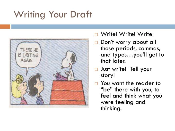 Writing Your Draft