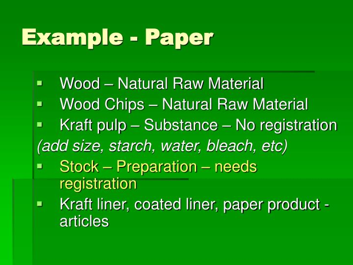 Example - Paper