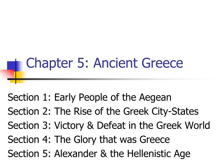 Chapter 5 ancient greece