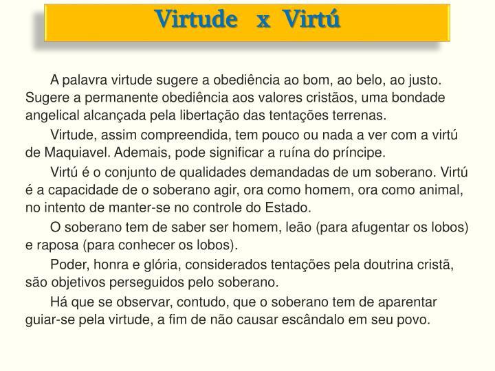 Virtude   x