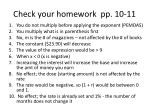 check your homework pp 10 11