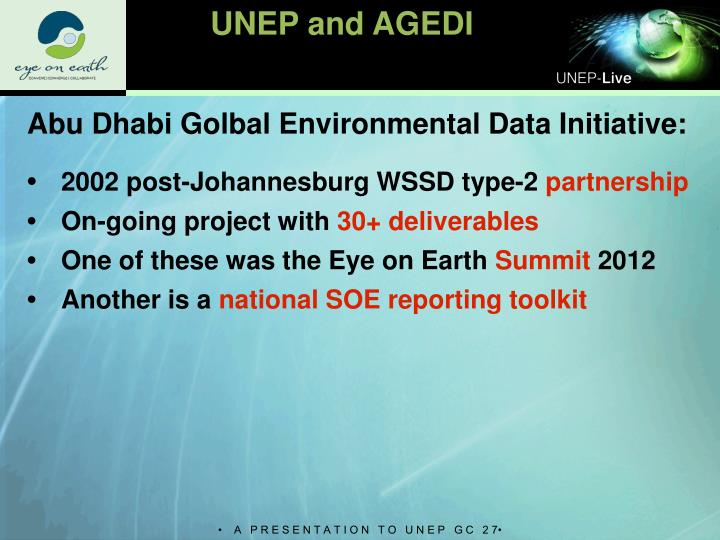 UNEP and AGEDI