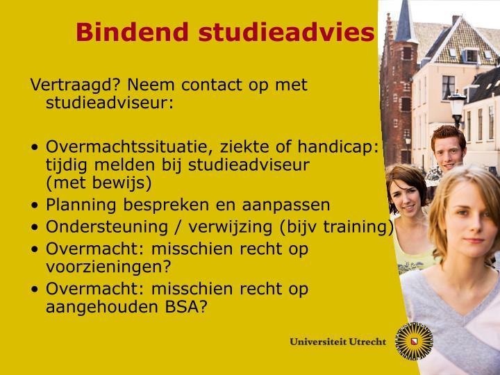 Bindend studieadvies