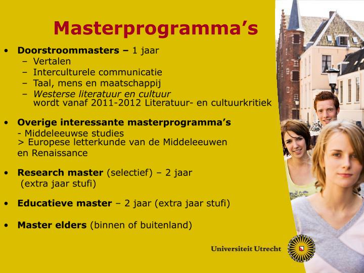 Masterprogramma's