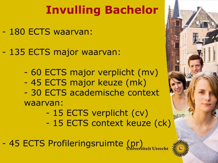Invulling Bachelor