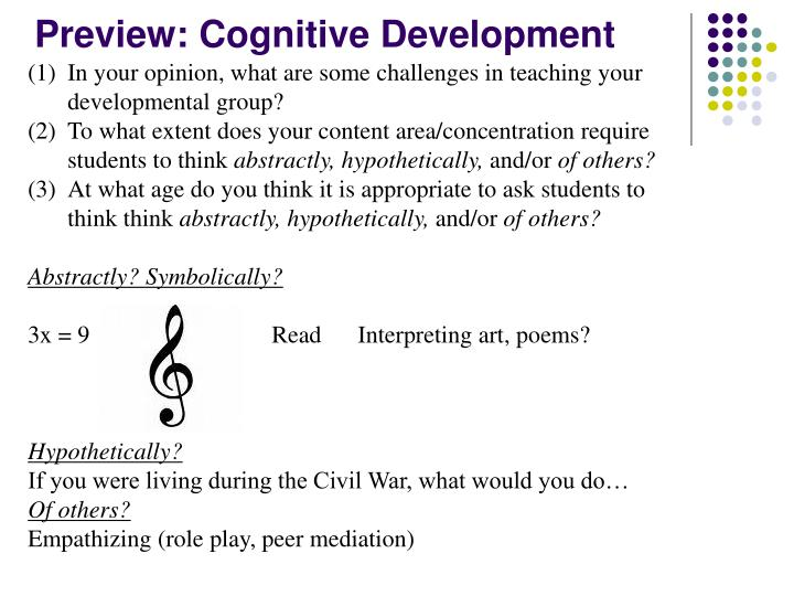 Preview: Cognitive Development