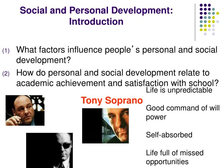 Social and personal development introduction