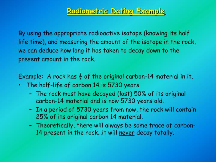 Radiometric Dating Example