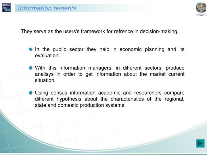 Information benefits