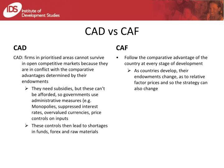 CAD vs CAF