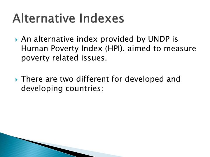 Alternative Indexes