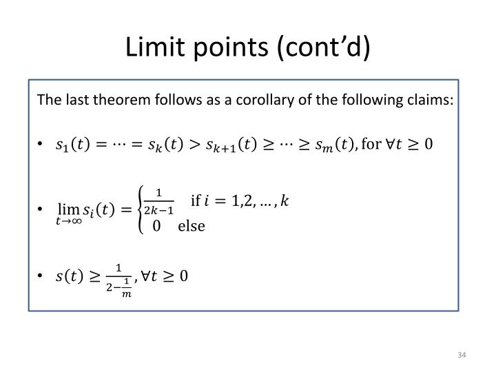 Limit points (cont'd)