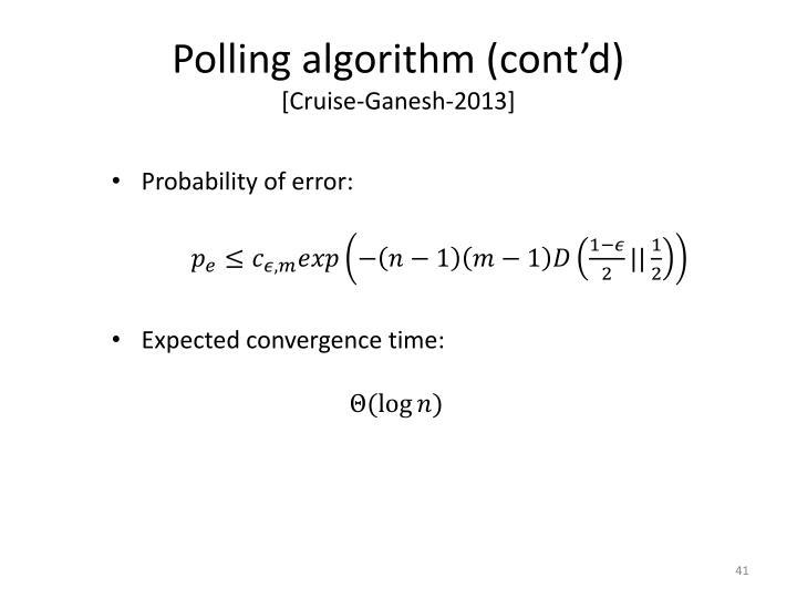 Polling algorithm (cont'd)