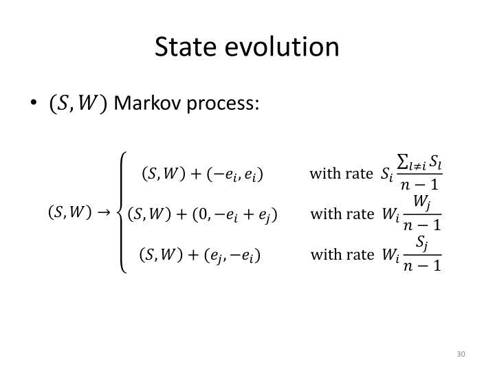State evolution