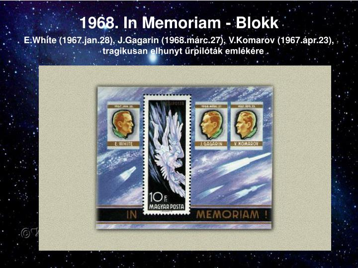 1968. In Memoriam - Blokk