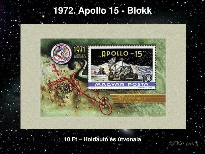 1972. Apollo 15 - Blokk